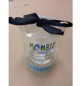 """Vaughan Mothers' Day Wine Glass  """"Mombie"""""""