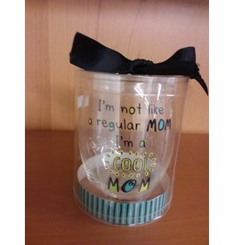 "Vaughan Mothers' Day Wine Glass  ""Cool Mom"""