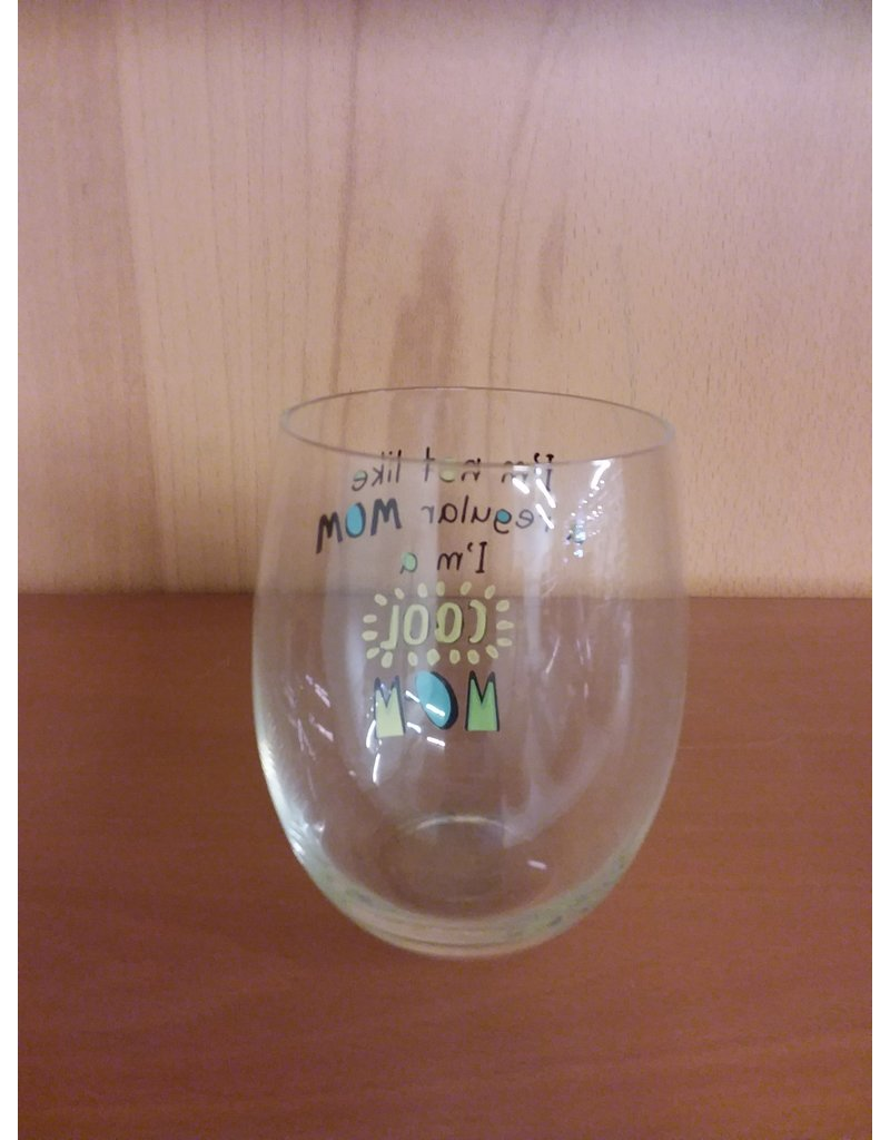 """Vaughan Mothers' Day Wine Glass  """"Cool Mom"""""""