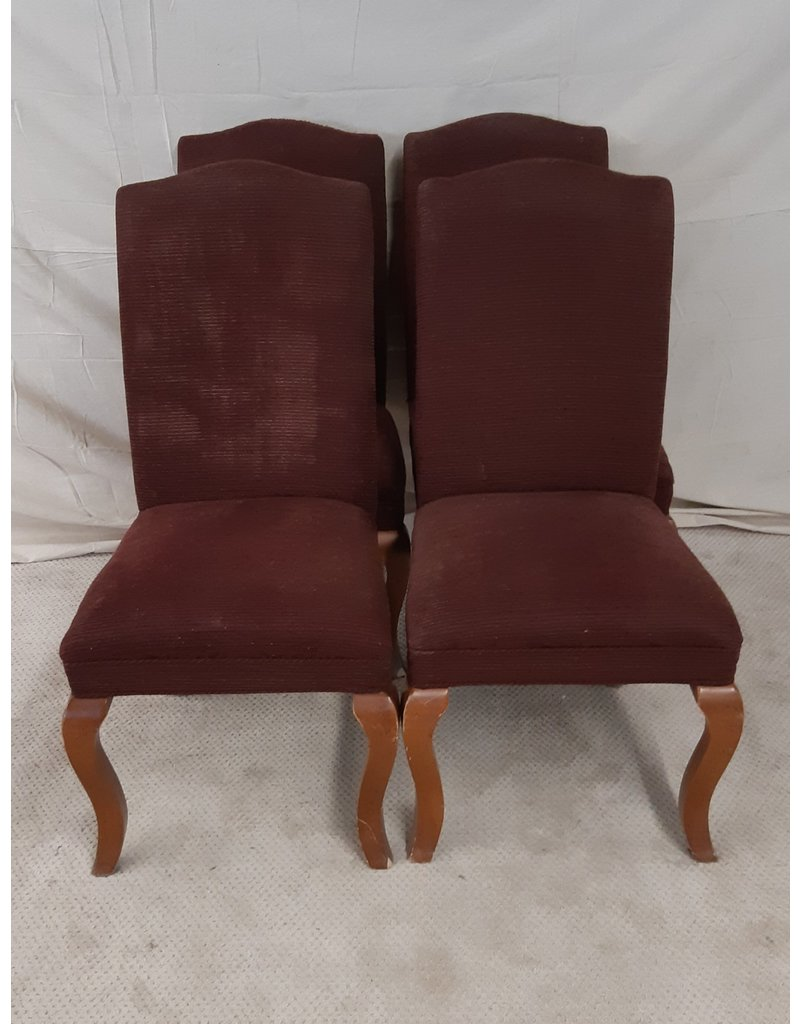 East York 4 Brown Wooden Chairs
