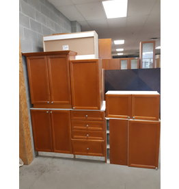 East York Set of Brown Kitchen Cabinets