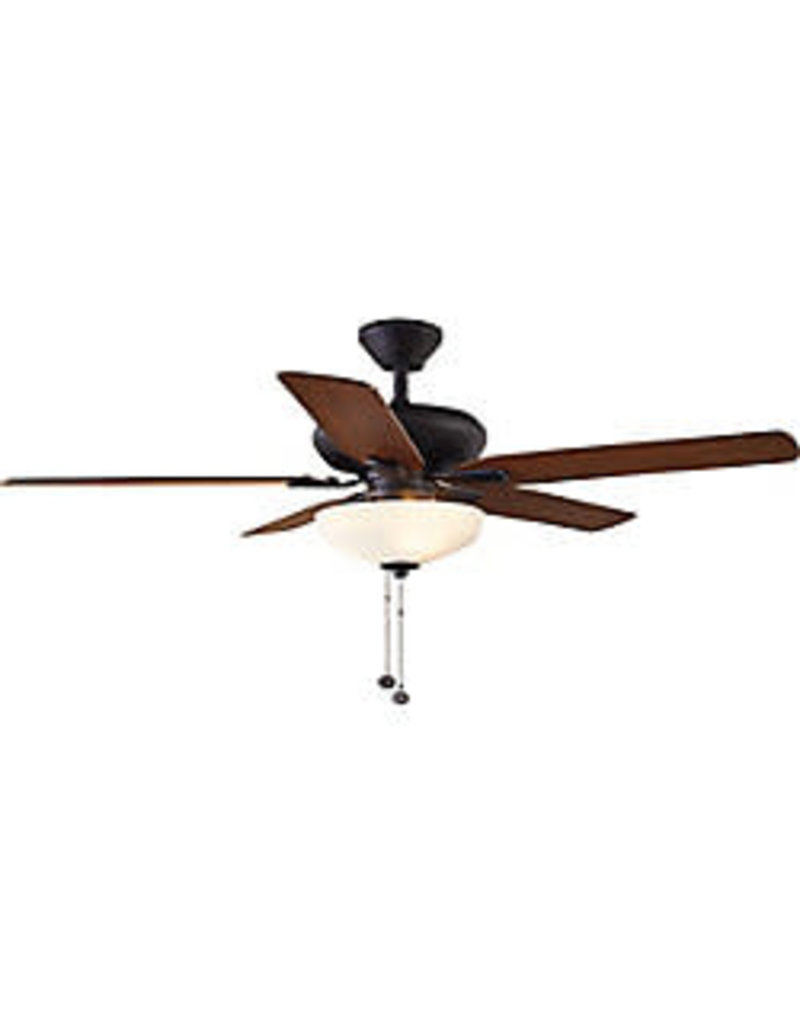 Markham West 52 inch Holly Springs LED Indoor Oil-Rubbed Bronze Ceiling Fan with Light Kit