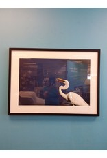 Vaughan John Marion's Framed Photography - Crane in Blue