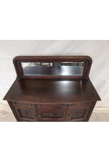 East York antique sideboard of brown finished oak wood