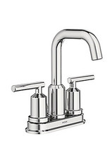Markham West 4-Inch Centerset 2-Handle High Arc Bathroom Faucet with Lever Handles in Chrome