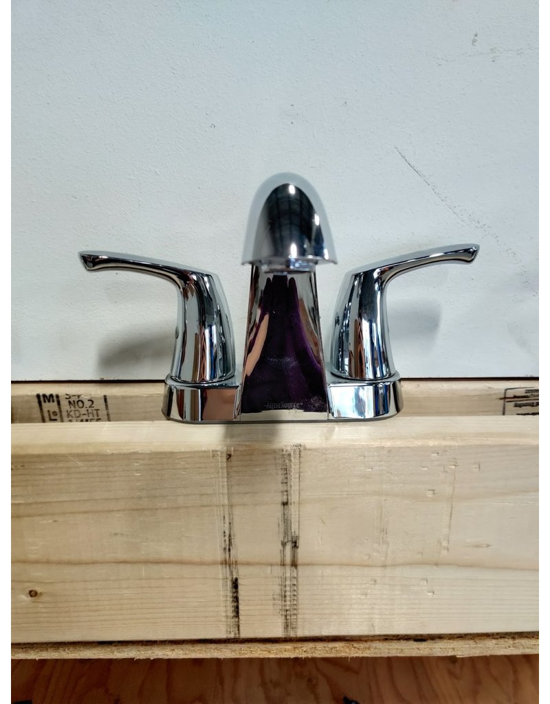 Markham West 2-Handle Mid Arc Bathroom Faucet in Chrome with Lever Handles