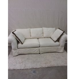 North York Offwhite upholstered 3 seater sofa