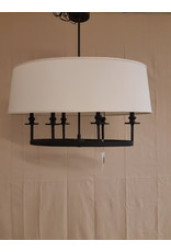 Vaughan Black & Tan Pendant - 6-Light