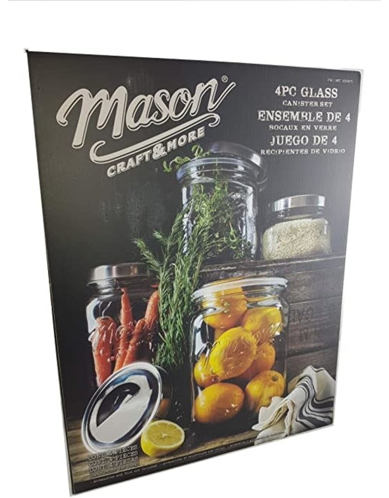 4PC GLASS Canister SET