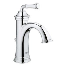 Chrome 1-Handle Single Hole 4-in Centerset WaterSense Bathroom Sink Faucet