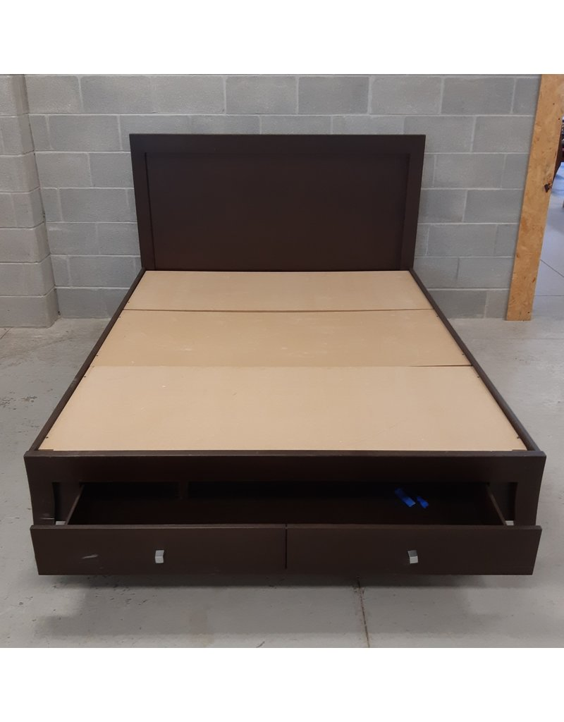 East York Queen Size Bed Frame with Storage Drawer