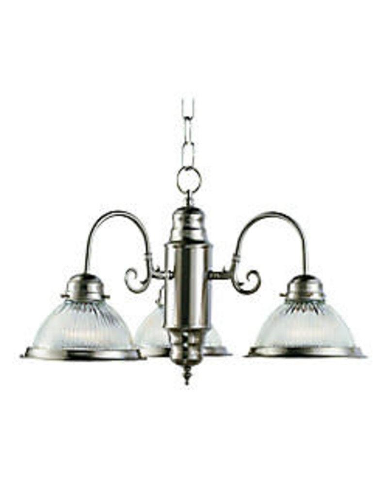 Studio District Bel Air Lighting Nickel 3 Down Kitchen Chandelier