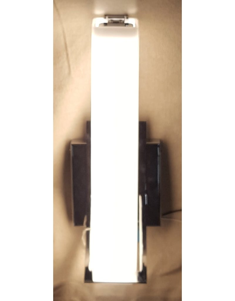 East York Chrome Sconce with White glass shade