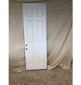 "East York 95""H x 31.5""W Solid White Front Door"