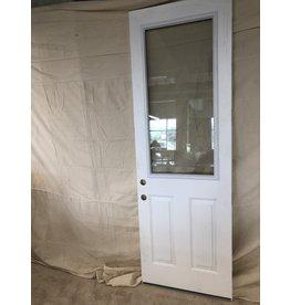 """East York 95""""H x 32""""W White Front Door/ Half Window"""
