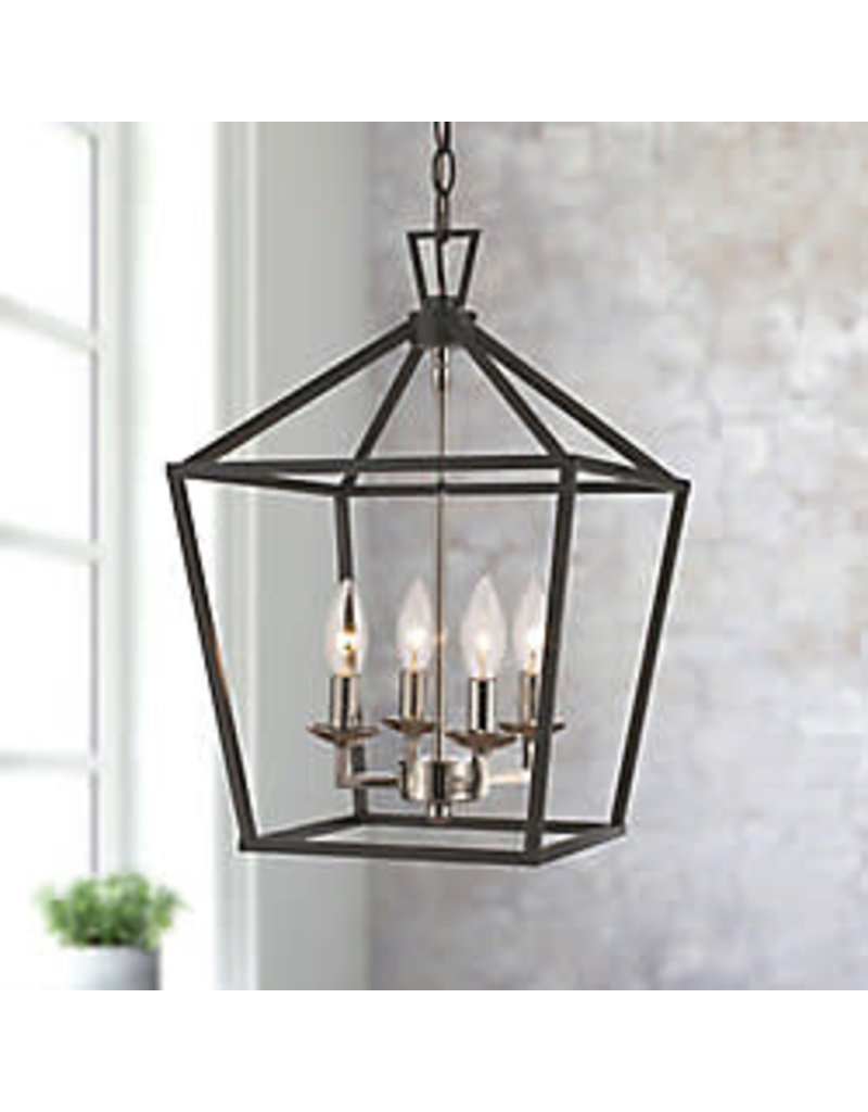 Studio District Bel Air Lighting Lacey 4-Light Pendant Light Fixture in Antique