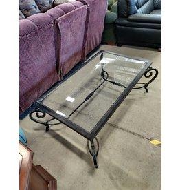 Markham West Glass metal coffee table