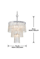 Studio District 5-Light Pendant Hanging Sugar Glass Tiers
