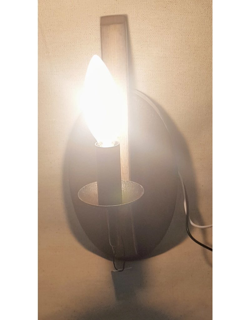 East York Faux Wood Wall Sconce