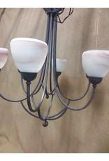North York 6 bulb hanging chandelier