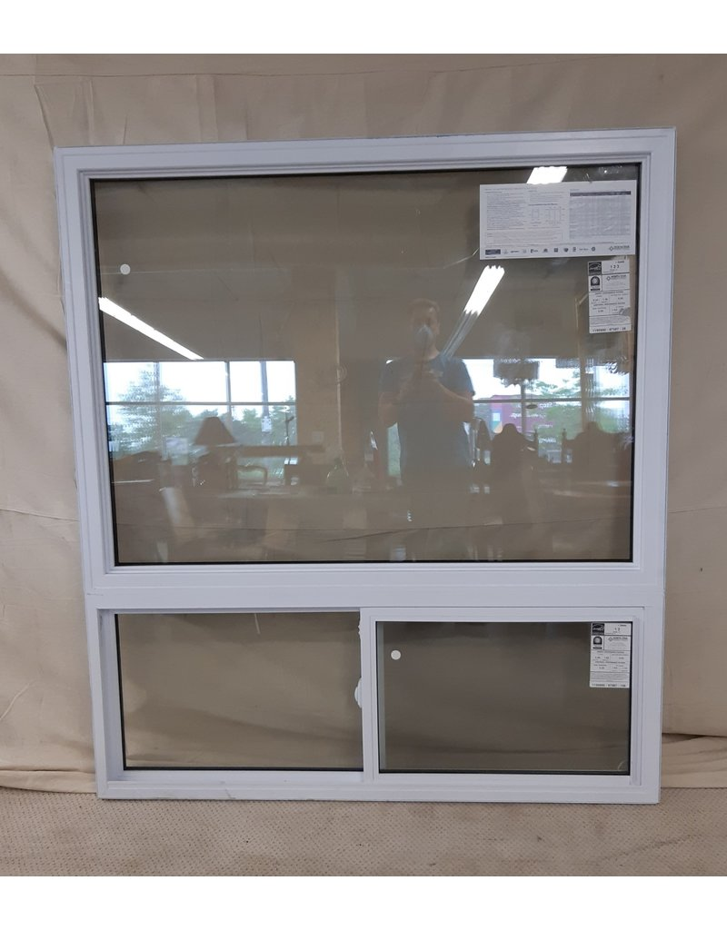 "East York 60""W x 67""H Vinyl Sliding Window"