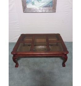 Studio District Wood and glass coffee table