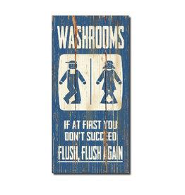 Brampton Rustic Washroom Sign