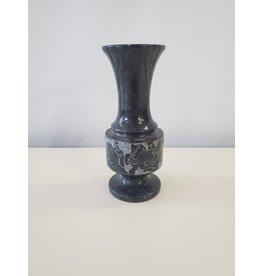 Studio District Black Vase with Horses
