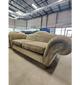 Markham West Green curved arm love seat