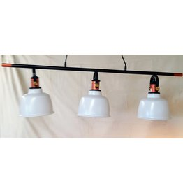 East York 3 Light chandelier - white metal shade