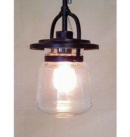 East York Single light mason jar chandelier