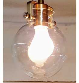 East York Brass chandelier with glass globe - 1 light