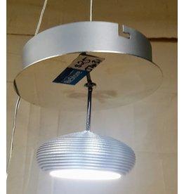 East York LED brushed chrome ceiling light