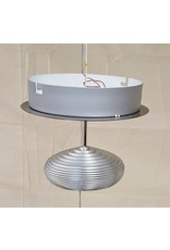 East York LED brushed chrome ceiling light
