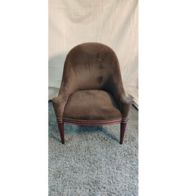 Markham West Brown suede arm chair