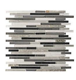 Studio District Jeffrey Court Zen Lace 11.75-inch x 13-inch x 8 mm Glass/Stone/Metal Mosaic Wall Tile