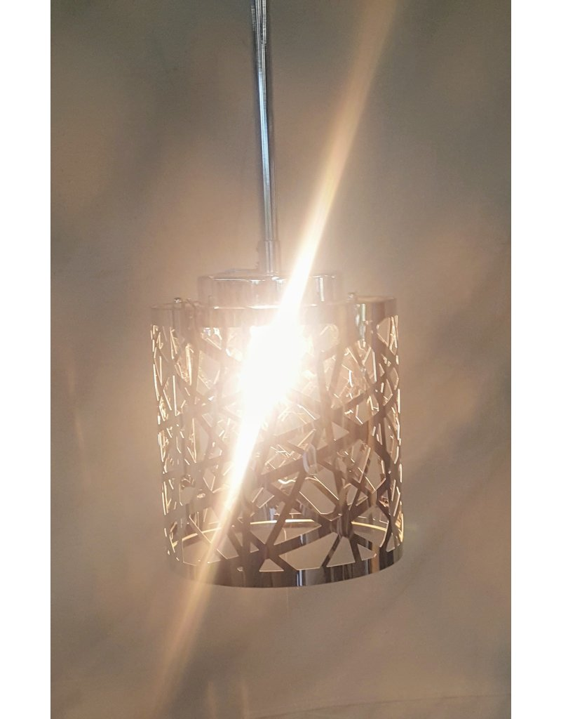 East York Chrome single light pendant