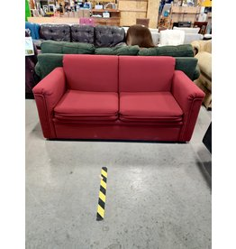 Markham West Red fabric love seat