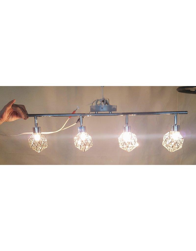 East York 4 light tetrahedron chandelier - chrome