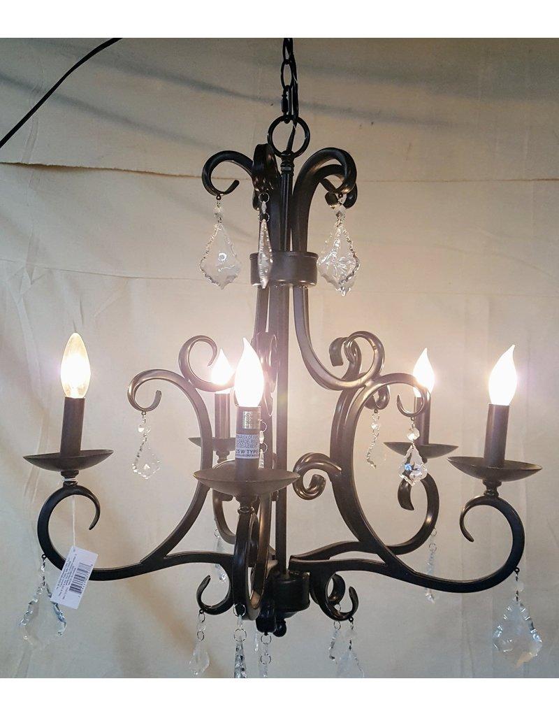 East York 5 light chandelier