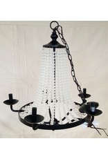 East York Wrought iron crystal chandelier - black