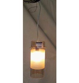 East York Single light chandelier - smokey
