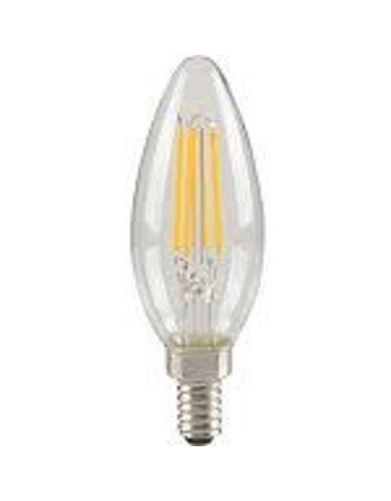 Studio District Ecosmart 60W Equivalent Bright White (3000K) B10 LED Light Bulb with Classic Glass Filament (4-Pack)
