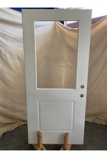Markham West Exterior door with glass insert cutout