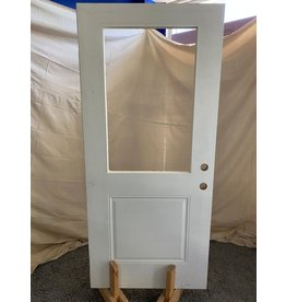 Markham West Exterior door with glass insert cutout
