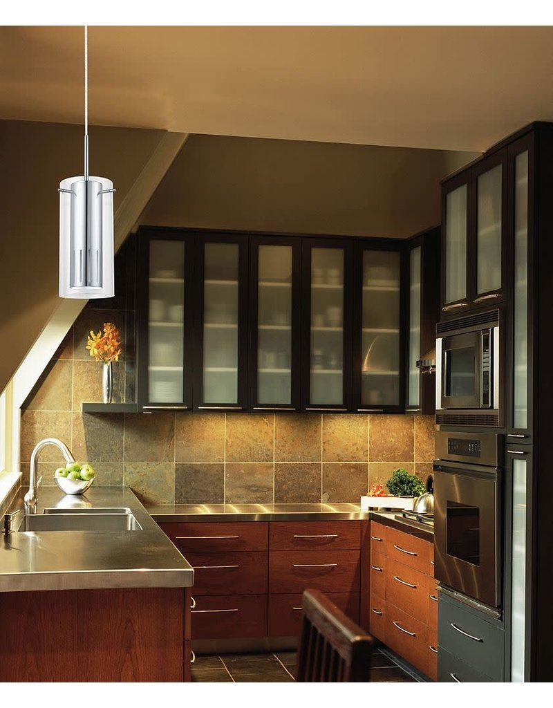 East York Pinto 1 1-Light 50W Chrome Pendant