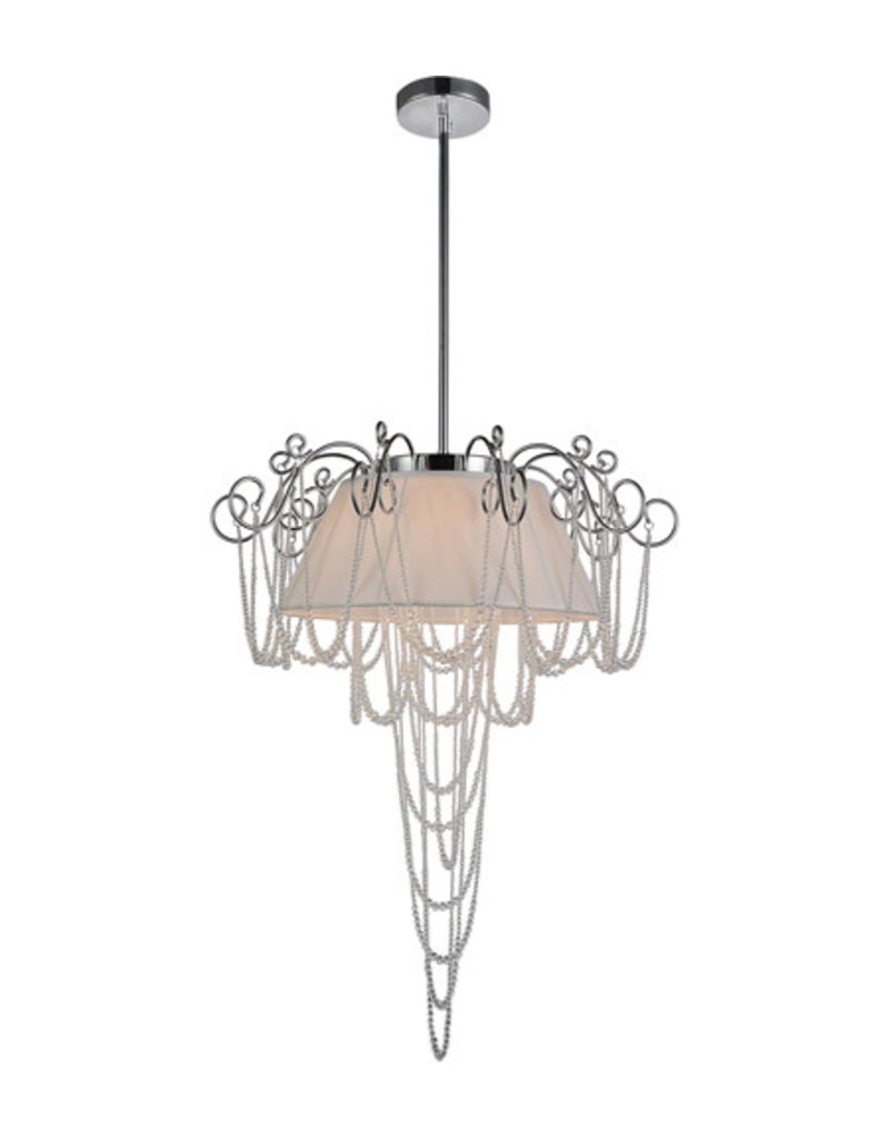 Markham West 5 Light Chandelier with Chrome Finish