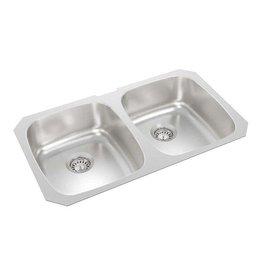 East York Wessan 31-inch x 18-inch x 7-inch Deep Double Bowl Undermount Kitchen Sink