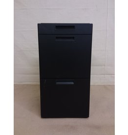 Studio District Small black filing cabinet