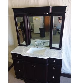 North York Vanity with mirrored cabinet